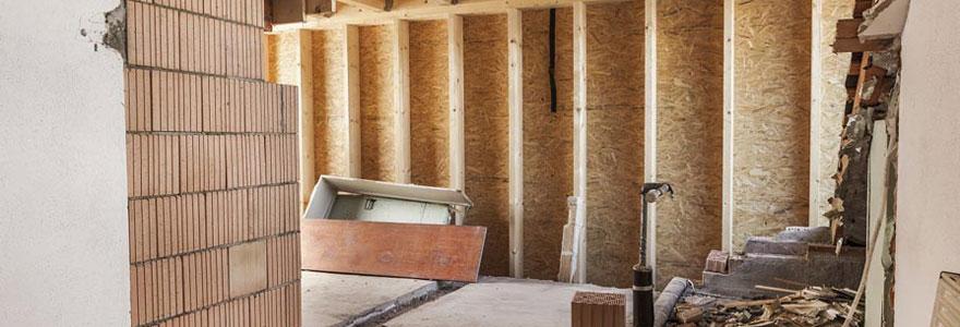 travaux d'aménagement effectuer pour agrandir sa maison