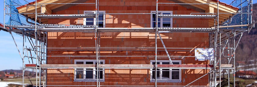 chantier de construction d'une maison