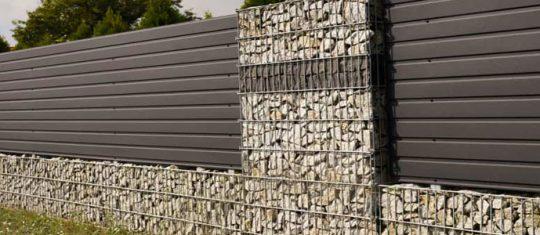 Clôture de mur en gabion
